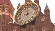 Zegar na bazylice Mariackiej w Gdańsku
