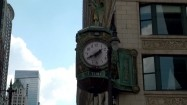 Zegar Father Time na Jewelers' Building w Chicago