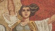 Mozaika na gmachu Narodowego Muzeum Historycznego w Tiranie