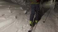Wchodzenie pod górkę w nartach turowych