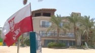 Polska flaga w Hurghadzie