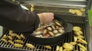 Danie z owoców morza na grillu