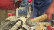 Przycinanie drewnianych palików