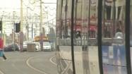 Ruch uliczny w Blackpool w Anglii