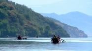 Plemię Mosuo - łodzie na jeziorze Lugu Hu