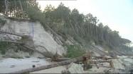 Zniszczone wybrzeże po przejściu orkanu