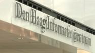 Centrum informacji w Hadze - napis