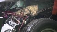 Zniszczone elementy samochodu