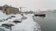 Zima w portowym miasteczku