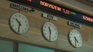 Zegary na Giełdzie Papierów Wartościowych w Warszawie