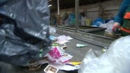 Plastik w sortowni śmieci