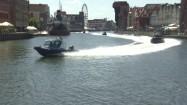 Wodny patrol policji podczas ćwiczeń