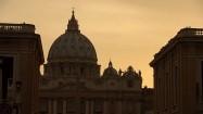 Bazylika św. Piotra o zachodzie słońca