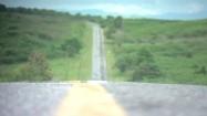 Droga wśród terenów zielonych