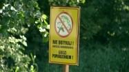 Barszcz Sosnowskiego - tabliczka ostrzegawcza