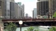 Dearborn Street Bridge na rzece Chicago