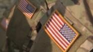Flaga USA na mundurze