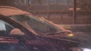 Samochody w śnieżny dzień