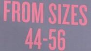 Napis z informacją o dużych rozmiarach