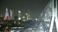 Most Świętokrzyski w Warszawie nocą