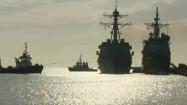 Okręty wojenne w porcie
