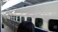 Pociąg Shinkansen na stacji