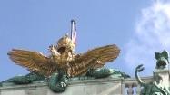 Pałac Hofburg w Wiedniu - pozłacane zwieńczenie