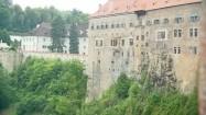 Czeski Krumlov - mury zamku
