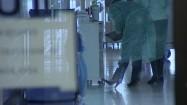 Kartka informująca o wstrzymaniu odwiedzin w szpitalu