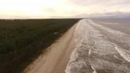 Brzeg Morza Bałtyckiego z lotu ptaka