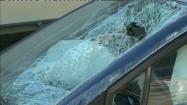 Rozbita szyba samochodowa