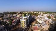 Miasto w Indiach z lotu ptaka