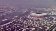 Stadion Narodowy w Warszawie zimą