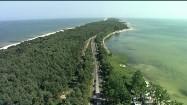 Morze i zatoka przedzielone mierzeją