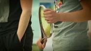 Squash - rakieta w ręku zawodnika