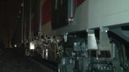 Wagony metra stojące na bocznicy kolejowej