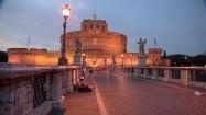 Zamek św. Anioła i most św. Anioła w Rzymie