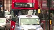 Piętrowe autobusy w Londynie