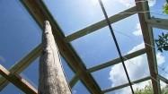 Niebo widziane przez okna szklarni