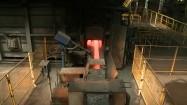 Produkcja w hucie - rozgrzany do czerwoności metal