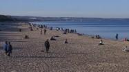 Ludzie spacerujący po plaży