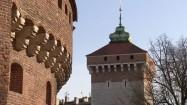 Brama Floriańska i barbakan w Krakowie