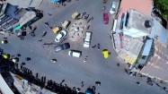 Miasto w Indiach - ruch uliczny z lotu ptaka