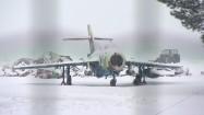Zaśnieżony samolot
