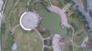 Chiny - park w mieście w lotu ptaka