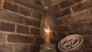 Lampa naftowa w piekarni