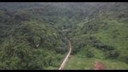 Wzgórze porośnięte drzewami w Tajlandii