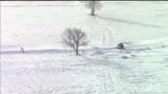 Krajobraz zimowy z lotu ptaka