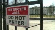 Ogrodzenie przed Białym Domem w Waszyngtonie