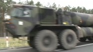 Konwój wozów wojskowych